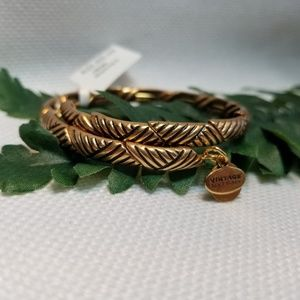 NWT Alex and Ani Gold Rolling Hills Wrap Bracelet